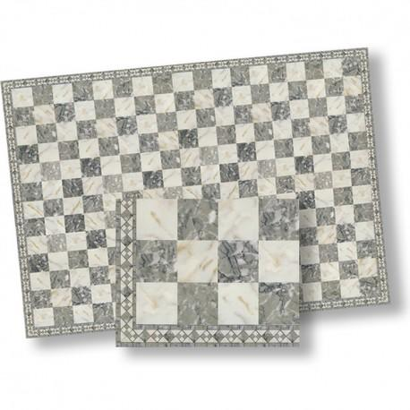 1/24th scale Grey and White Marble Tiles