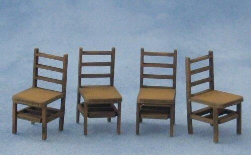 1/48th scale Four Ladderback Chairs Kit