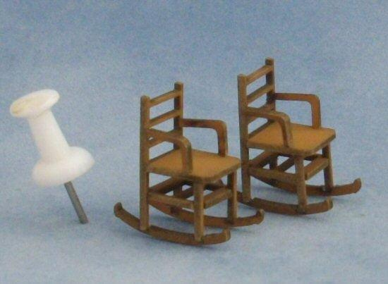 1/48th scale Two LadderBack Rocking Chairs Kit