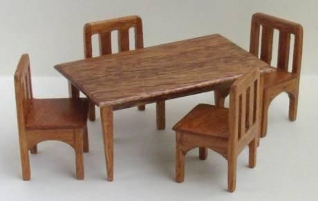 Half scale Handmade Dining or Kitchen Table with Straight Legs
