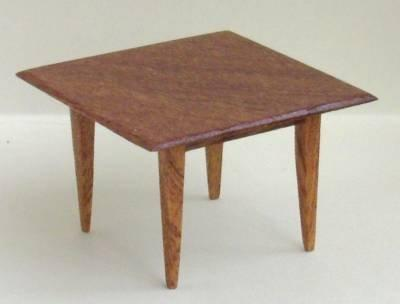 1/24th scale Handmade Mahogany Square Table