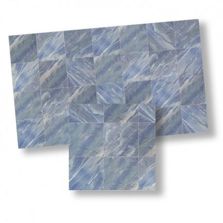 1/24th scale Blue Marble Floor Tiles 17mm