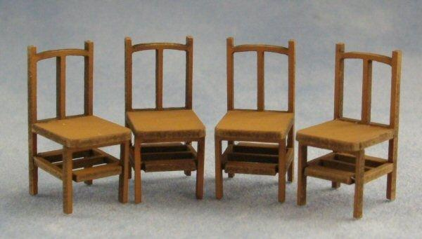 1/48th scale Four Bannister Back Chairs