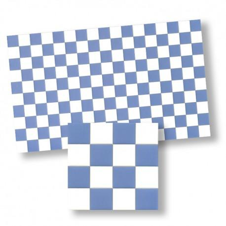 1/24th or 1/48th Blue and White Chequer Tiles