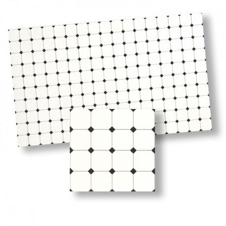 1/24th or 1/48th scale Black White Diamante Tiles