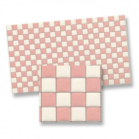 1/24th or 1/48th Pink and White Chequer Tiles