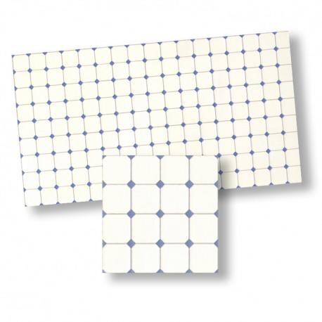 1/24th scale Blue and White Diamante Tiles