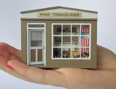1/48th scale Pocket Toy Shop Kit in a  hand