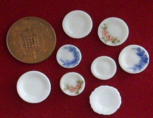 Various half scale patterned plates