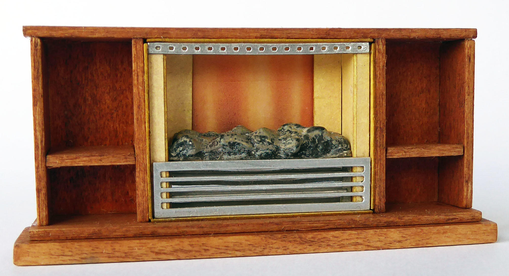 1/48th scale 70s Retro Miniature Coal Effect Fire Kit