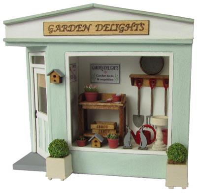 Kit for a miniature 1/48th scale garden shop kit