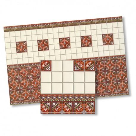 1/24th scale Victorian Wall Tiles