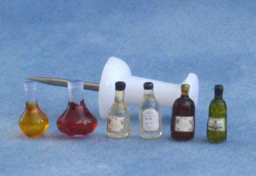 1/48th scale Wine Bottles and Decanters