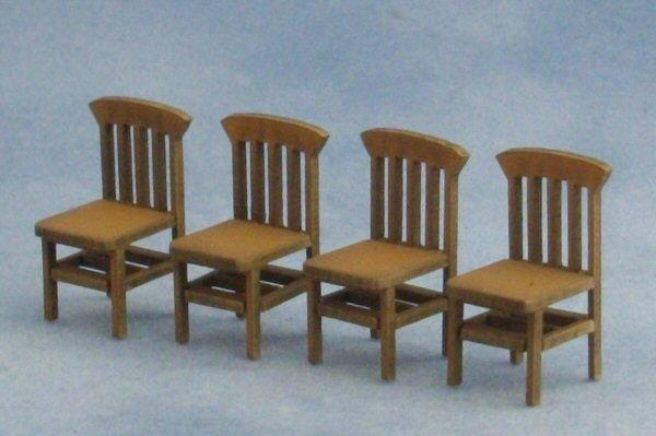 1/48th scale Four Bannister Back Chairs Kit