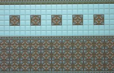 Half scale Victorian Wall Tiles