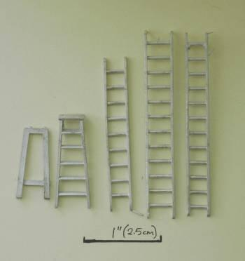 1/48th scale Set of 3 Ladders