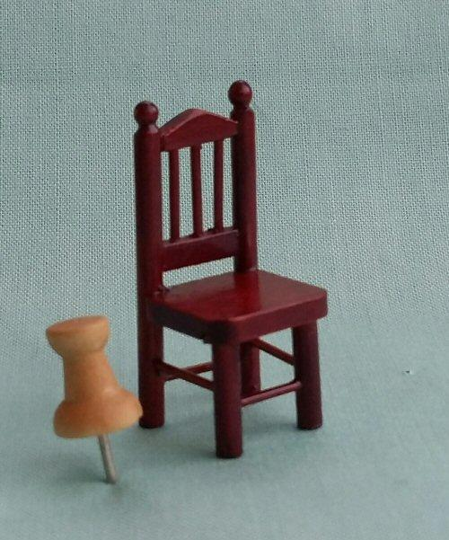 1/24th scale Mahogany Spindle Chair
