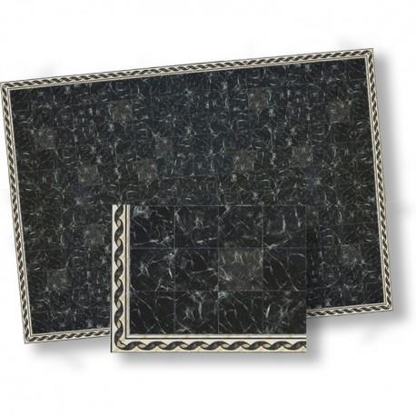 1/24th scale Black Marble Tiles