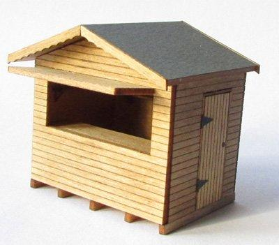 1/48th scale Christmas Continental Style Wooden Market Stall