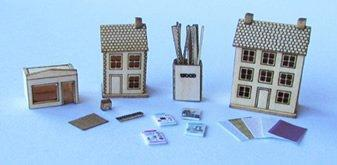 Accessories for the 1/48th scale Pocket Doll's House Shop Kit