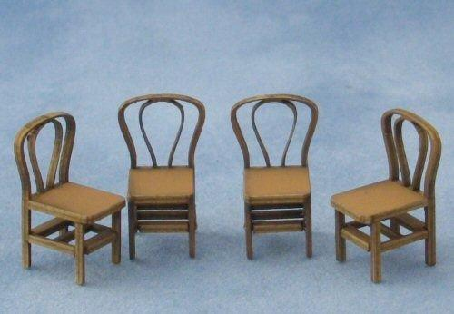 1/48th scale Four Bentwood Chairs