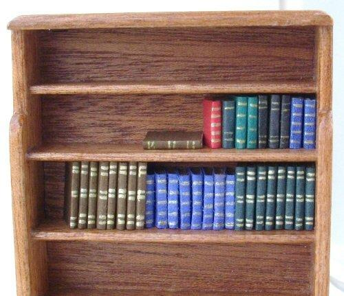 Dolls house bookshelf with books