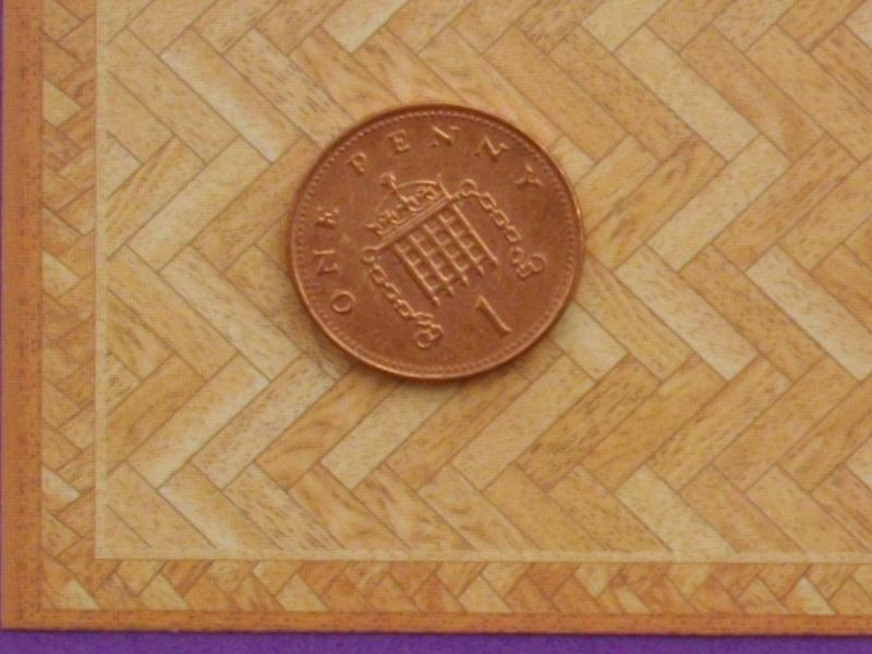 1/24th scale Herring Bone Parquet Floor
