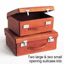 1/48th scale kit to make 4 suitcases, 2 small and 2 large,  1940s/50s era.