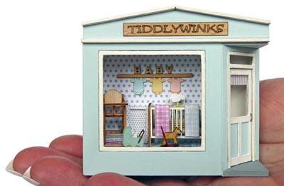 1/48th scale Pocket Baby Shop is small enough to fit on your hand