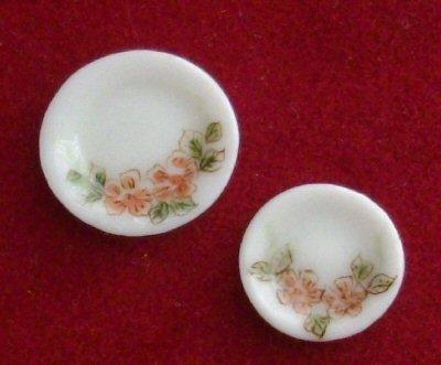 1/24th scale Floral patterned Plates