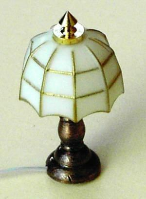 1/24th scale Dolls house White Tiffany Lamp