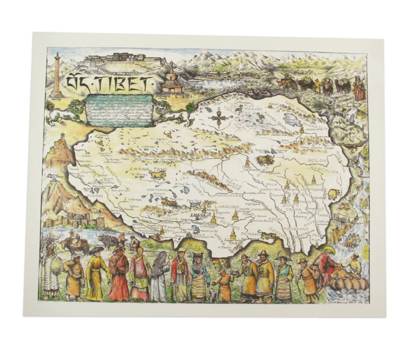 The fabric of tibet regional dress from the roof of the world 350 painting the plateau map of tibet gumiabroncs Images