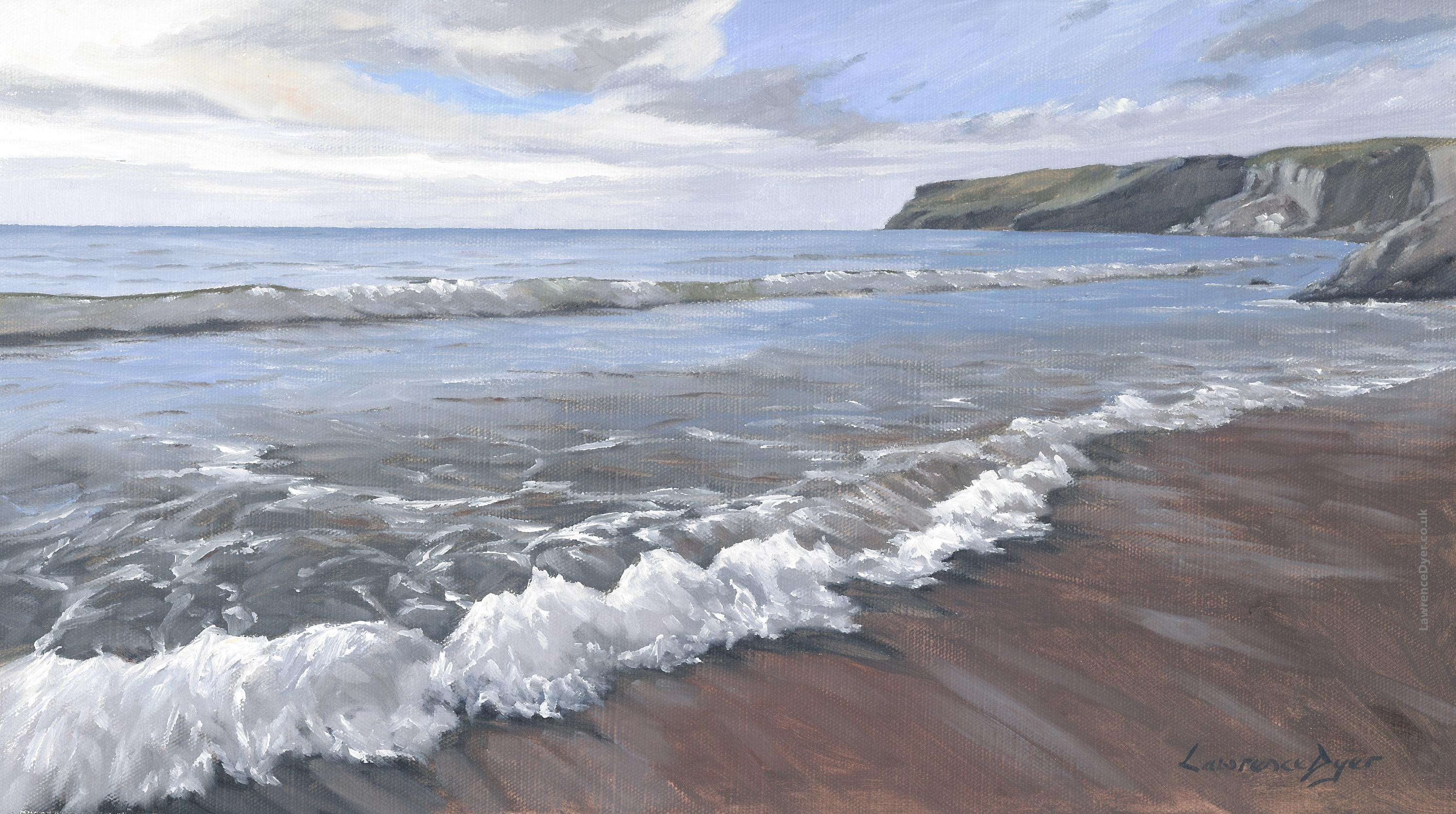Trebarwith Strand Long Waves art print