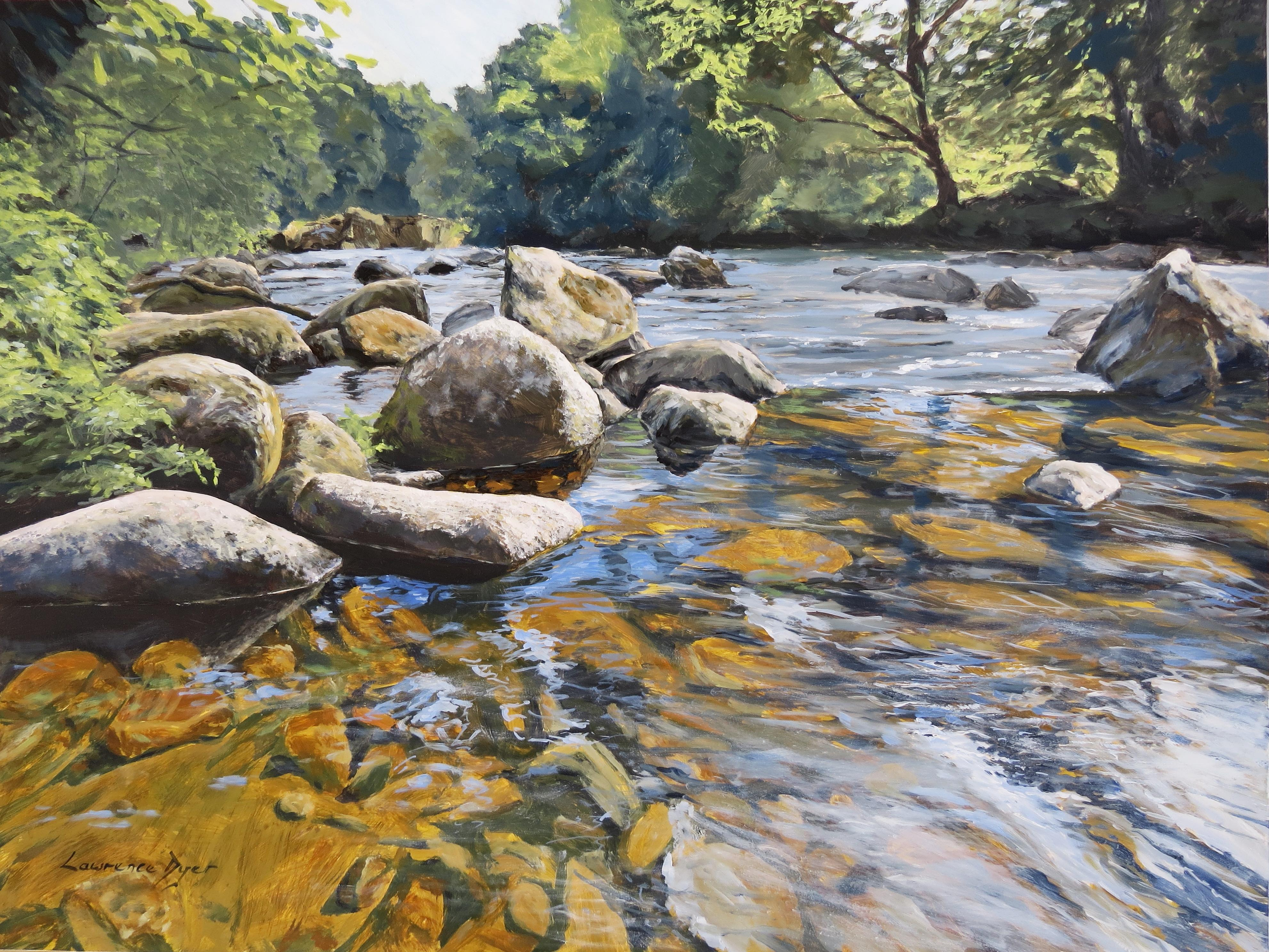 Granite Boulders East Dart River art print