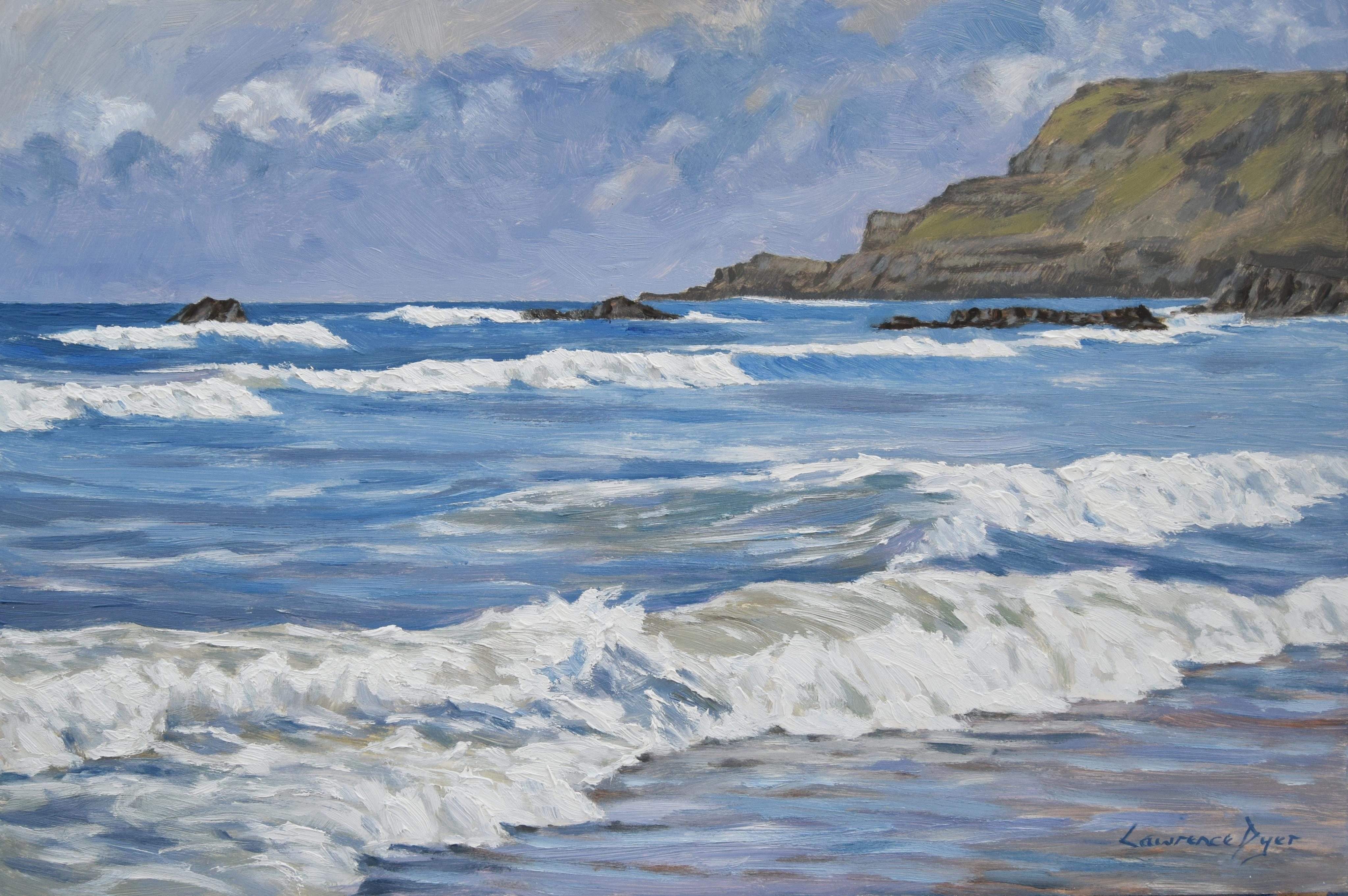 Widemouth Bay White Surf. by Lawrence Dyer co uk
