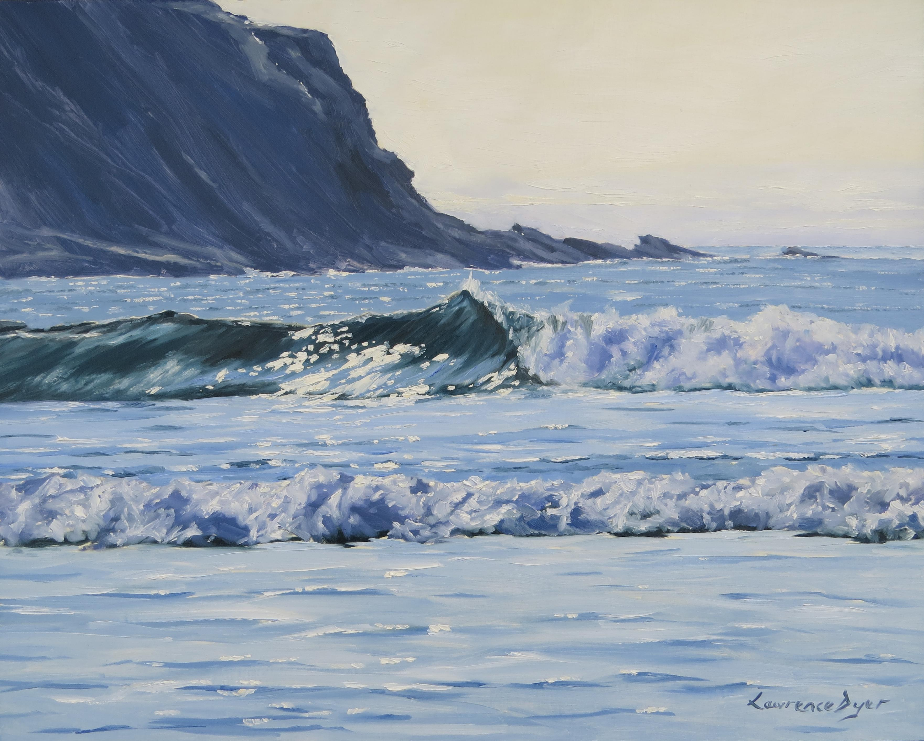 Crackington Haven: Cambeak Wave Art Print