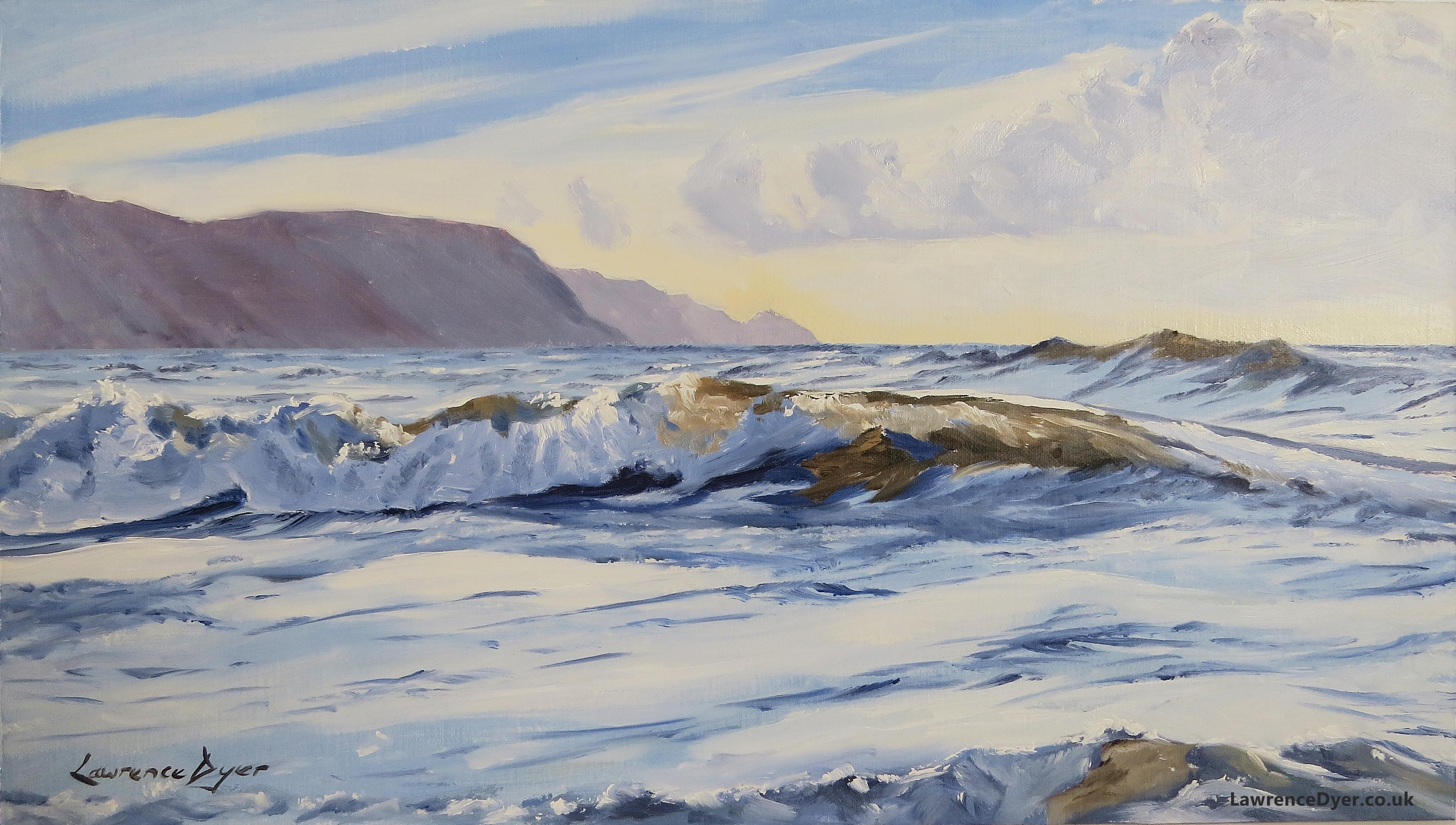 September Widemouth Bay by Lawrence Dyer