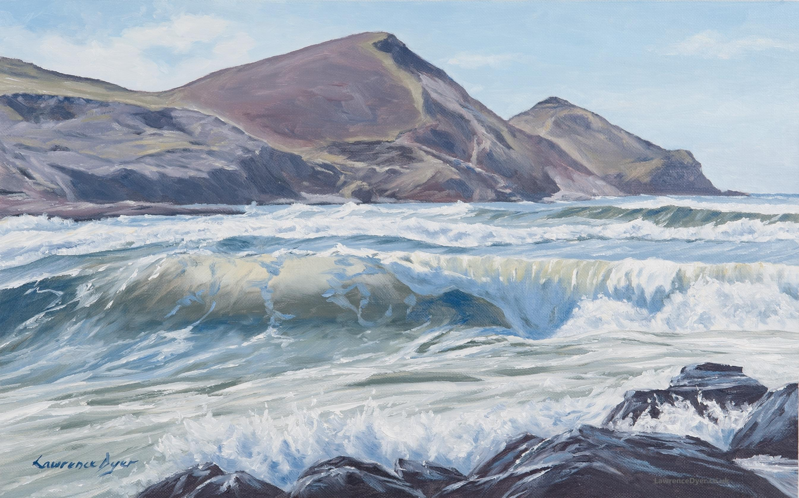 Crackington Haven Wave Art Print