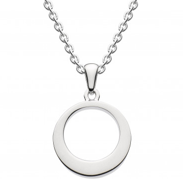 Dew open circle pendant necklace aloadofball Choice Image