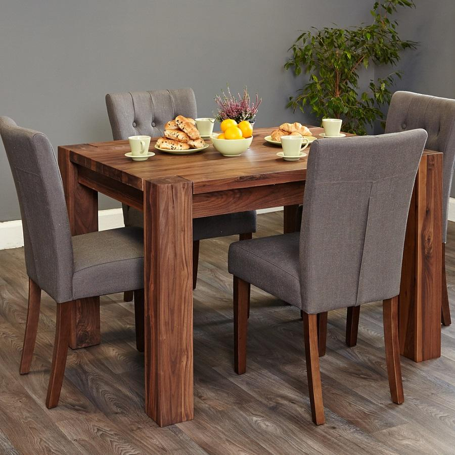 walnut small dining table for 4