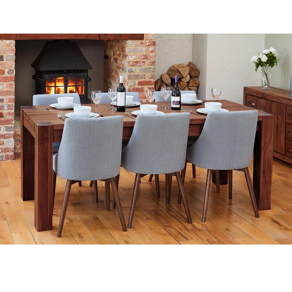Modern Walnut Extending Dining Table, Walnut Dining Room Furniture Uk