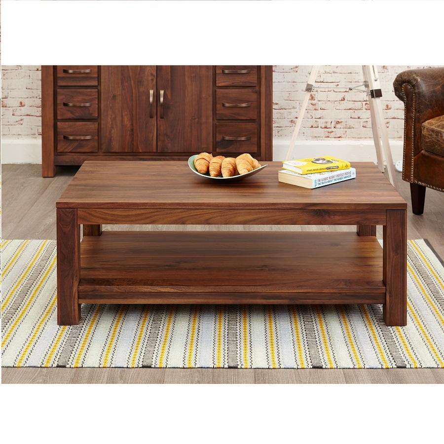Modern Walnut Open Coffee Table