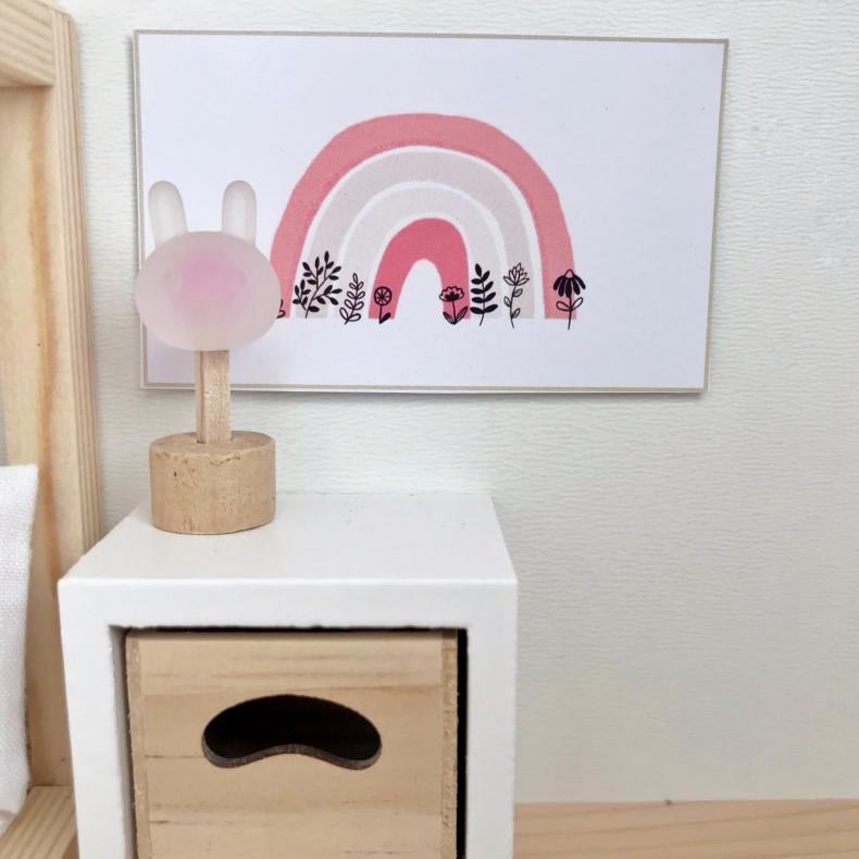 Elephant 1//12th Scale Dolls House Animal Print Cushion