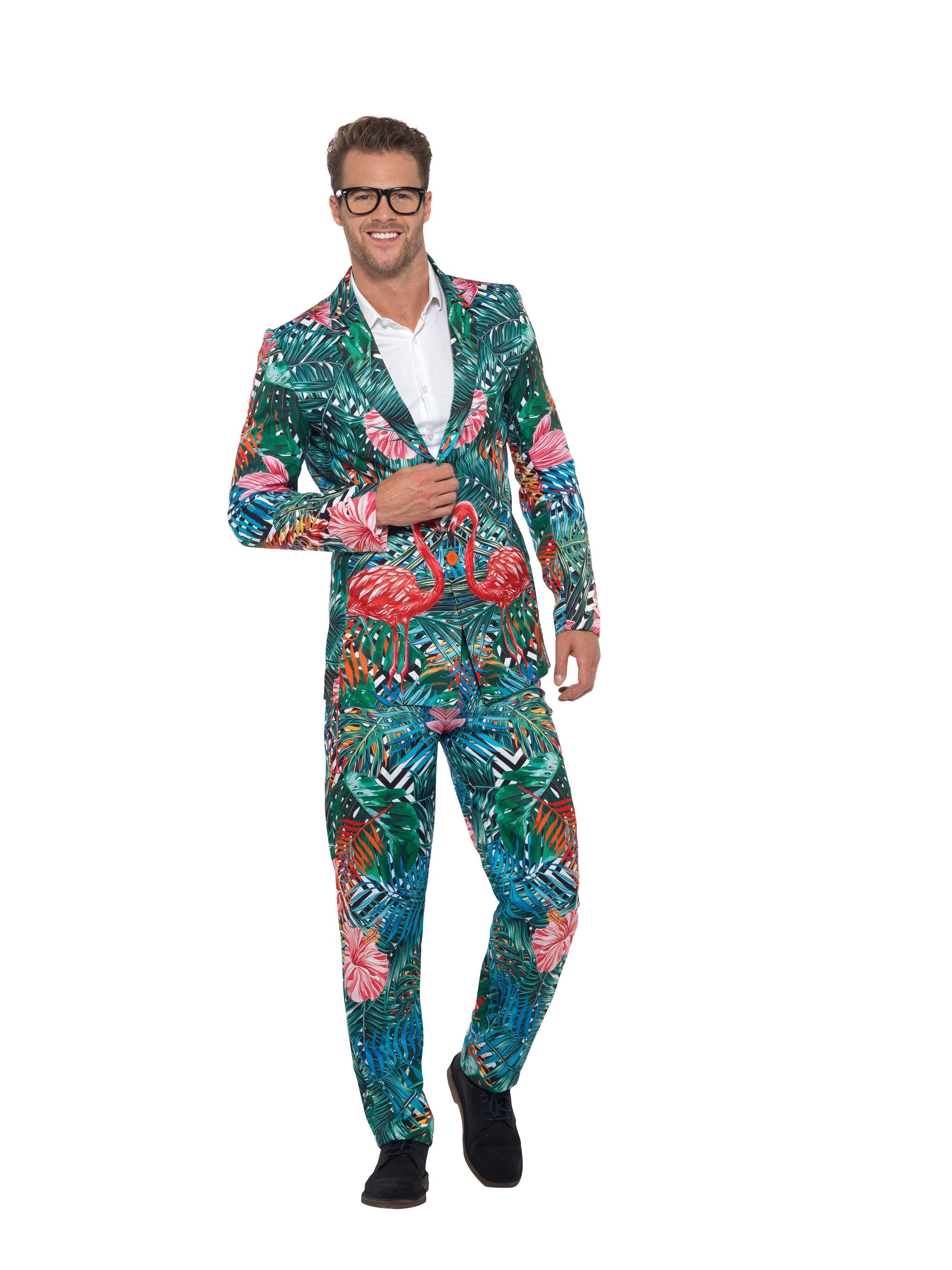 7e030bad4a9 Hawaiian Tropical Flamingo Suit