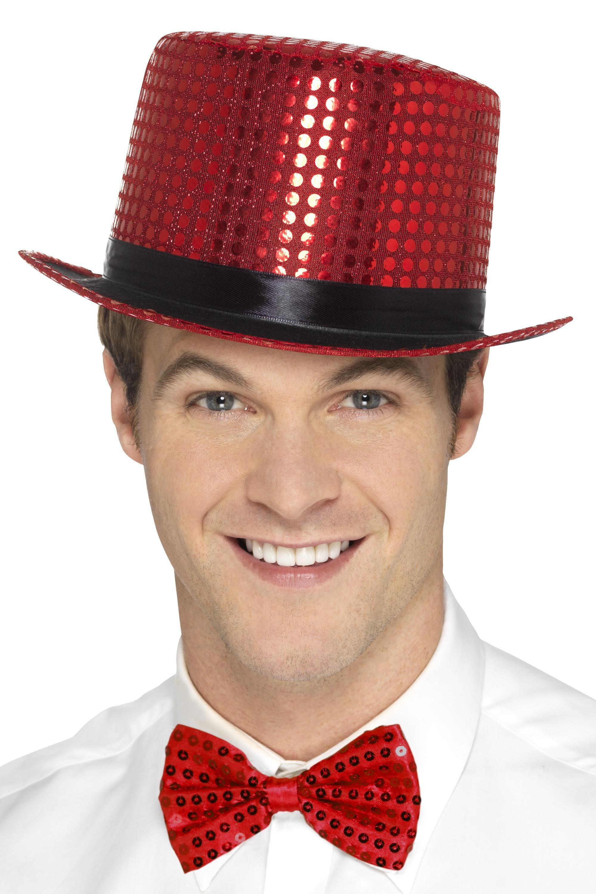 47e87804b9e71 Sequin Top Hat Red