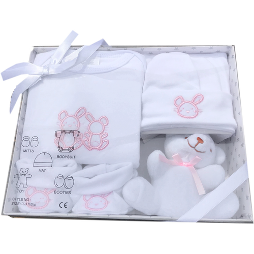 5 Piece New Baby Gift Box Set Pink