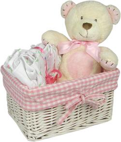 Hot Cross Buns Pink Basket