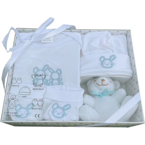 5 Piece New Baby Gift Box Set Blue