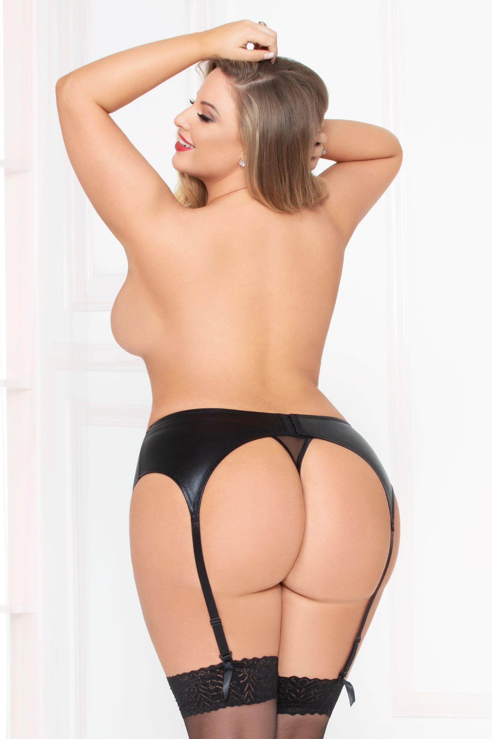 Lamé Suspender Belt rear view