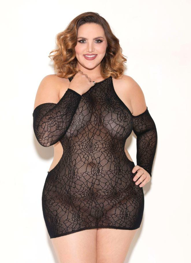 Black chemise with cutouts